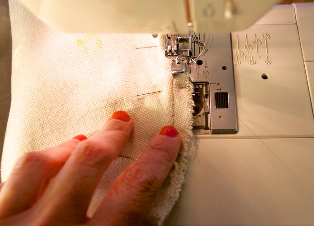 Sew directly on top of your previous thread line.