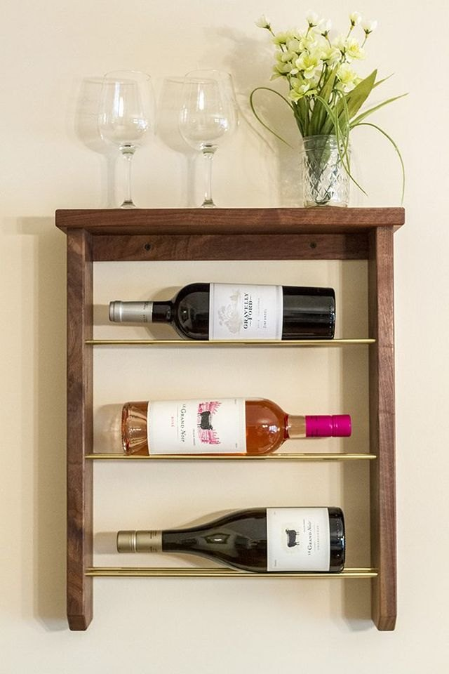 Build a wine rack to store and display your favorite finds.