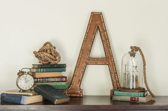 Turn a papier mache letter into a chic monogram for your man cave.