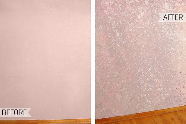 How To Create A Show Stopping Accent Wall With Sparkly Glitter Paint Ehow