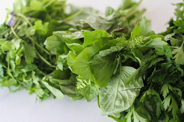 Parsley, basil and cilantro all make a tasty pesto sauce.