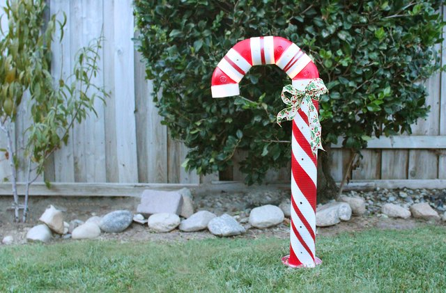 How to Make a Lighted PVC Candy Cane Decoration