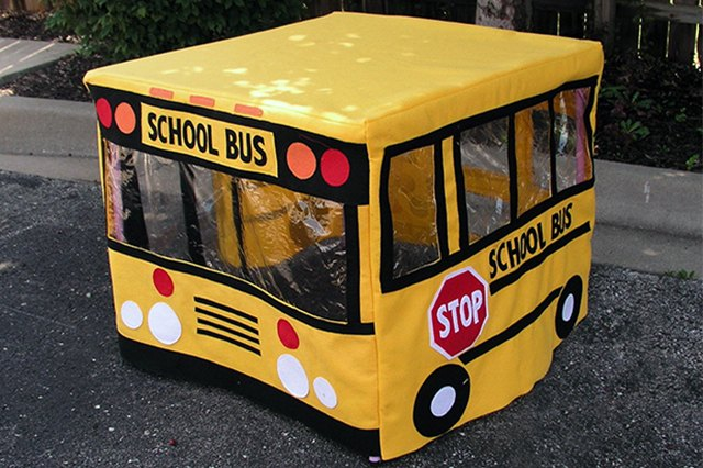 A cute school bus playhouse should help get the kids ready for the real thing.