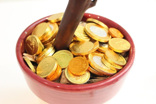 Chocolate coins are perfect for a money tree.
