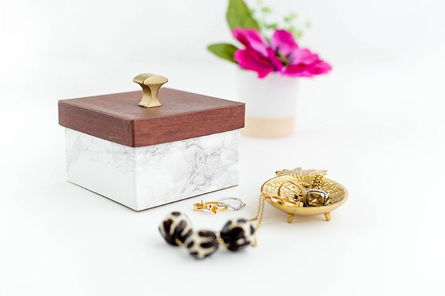 This DIY trinket box cost less than $10 to make.