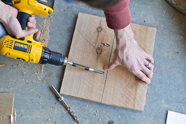 Join cedar 11-inch cedar pickets to form a square.