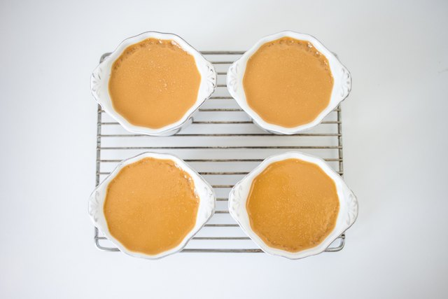 Let the pots de creme cool on a wire rack.