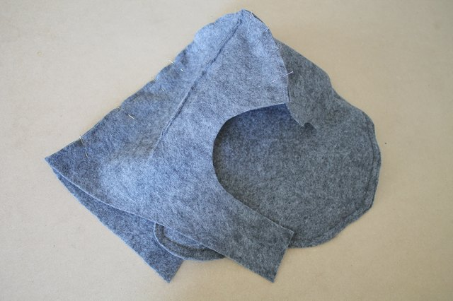 Sew the hood pieces together.