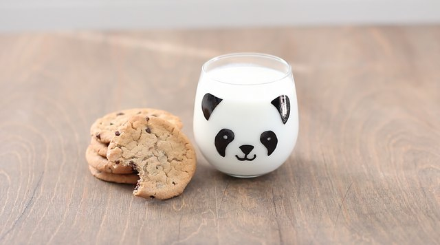 Cutest cookies and milk ever!