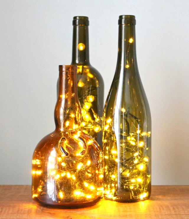 How to Put Christmas Lights in a Wine Bottle | eHow