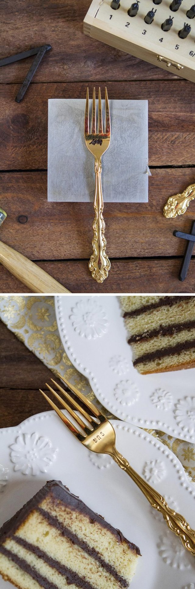 Cake feels so much fancier when eaten from a custom fork.