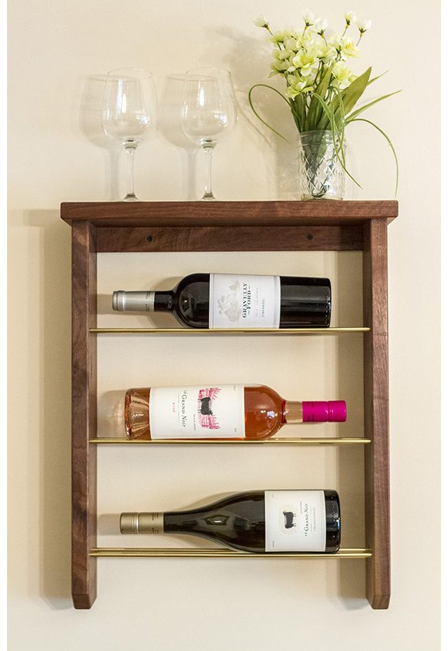 Make your own wall mounted wine rack.