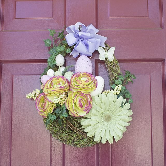 Dress up wreaths and door displays with a fancy homemade bow.