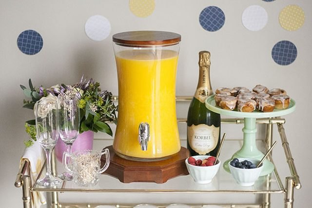 Make it a celebratory brunch with some bubbly.
