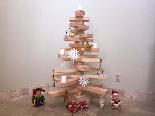 Make your own Christmas tree this year and delight your kids.