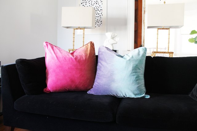 Tie Dye on Cotton Velvet Throw Pillows