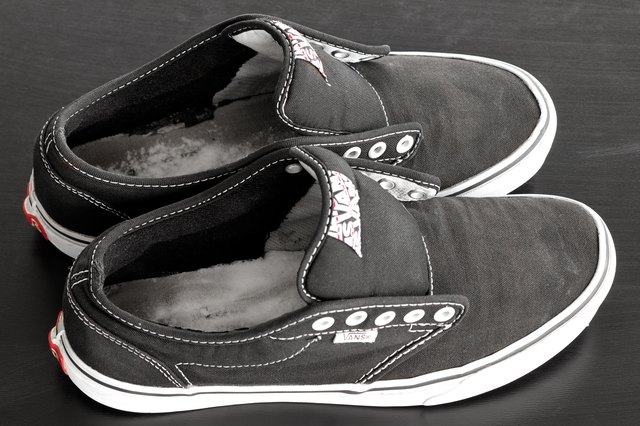 Pour Baking Soda Into The Interior Of Your Vans To Deodorize Them Allow Rest In Shoes For 24 Hours Dump Out