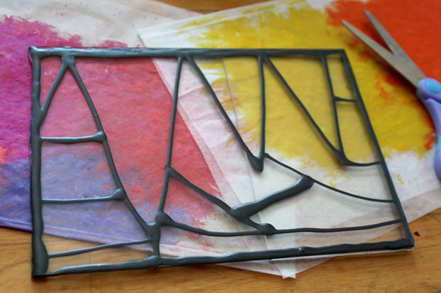 how to make crayon stained glass windows ehow