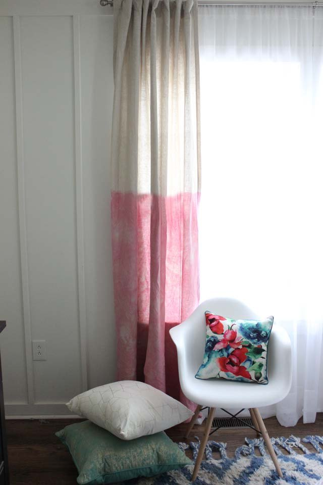Brighten up any room with dyed curtains.