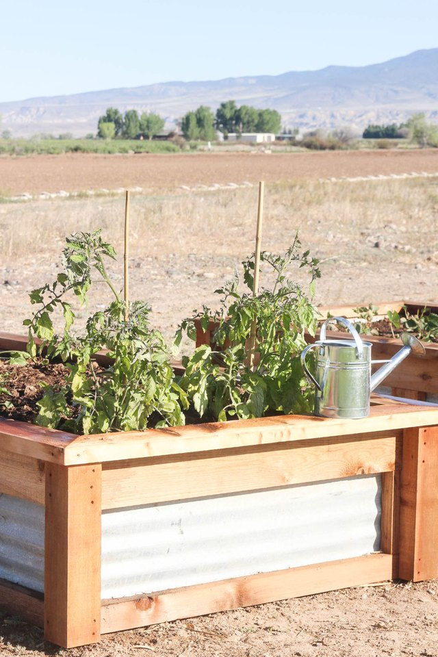 How To Build Raised Garden Beds With Corrugated Metal Ehow