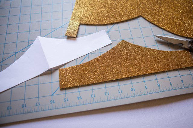 Cut Crown Template Out Of The Foam
