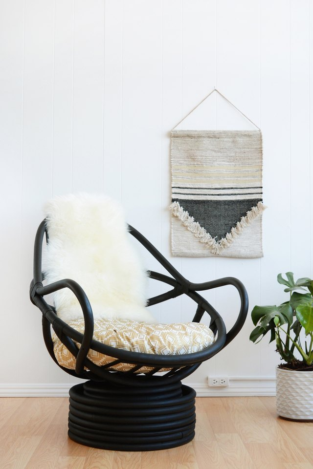how to make over a rattan chair ehow Barrel Chair Recover recover patio chair cushions outdoor