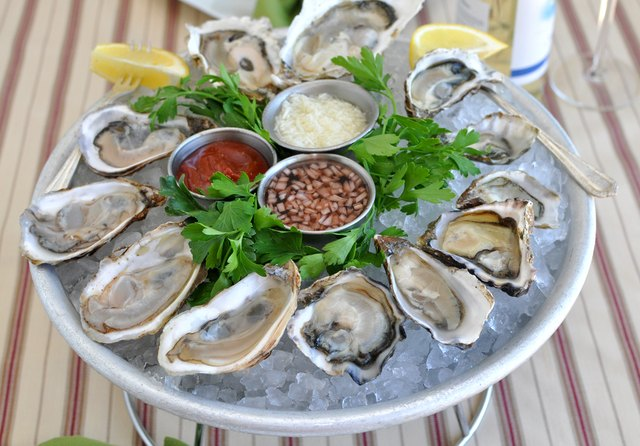 Oysters aid in arousal for both men and women.