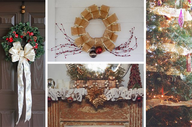 how to decorate for christmas with sinamay mesh ehow - Christmas Mesh
