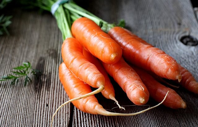 Red and orange veggies, like carrots, supply lots of Vitamin A.