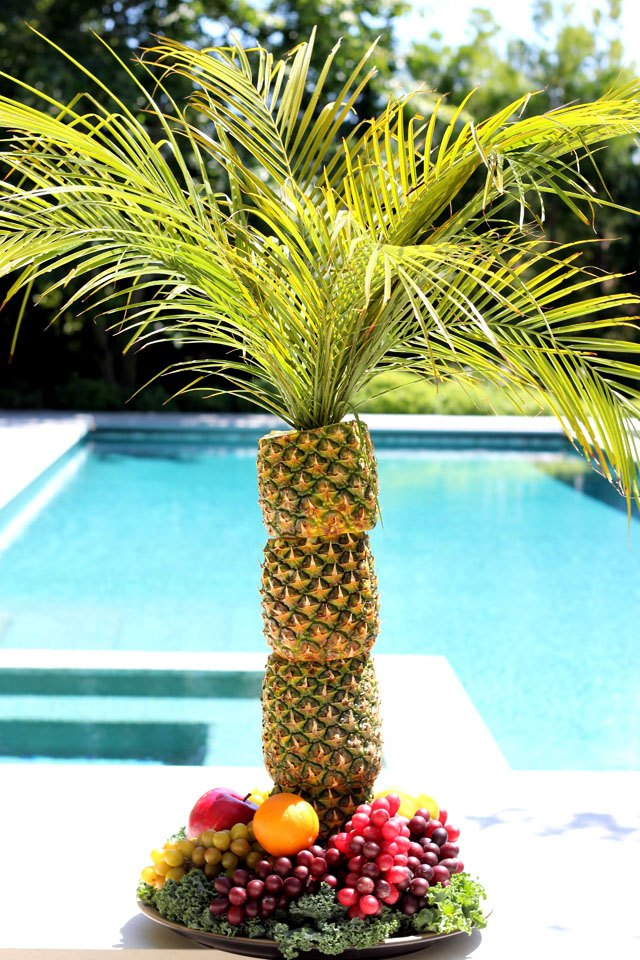 How To Make A Pineapple Palm Tree For Serving Tray EHow