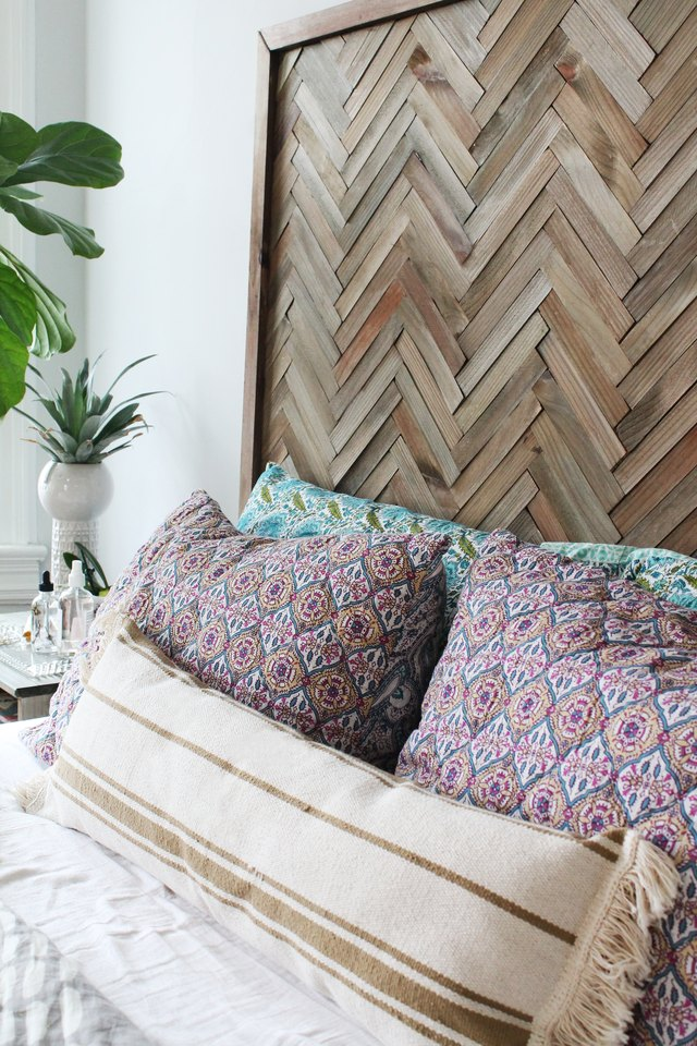 Diy Herringbone Headboard With Wood Shims Ehow