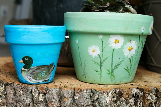 What Type Of Paint Can You Use On Clay Pots With Pictures Ehow
