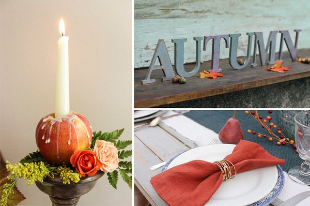Incorporate seasonal elements in your home decor this fall.