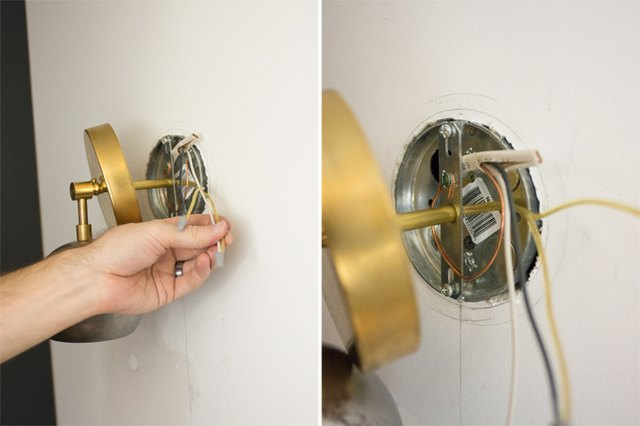 How To Install Sconces On Wall : How to Install Wall Sconce Lighting eHow