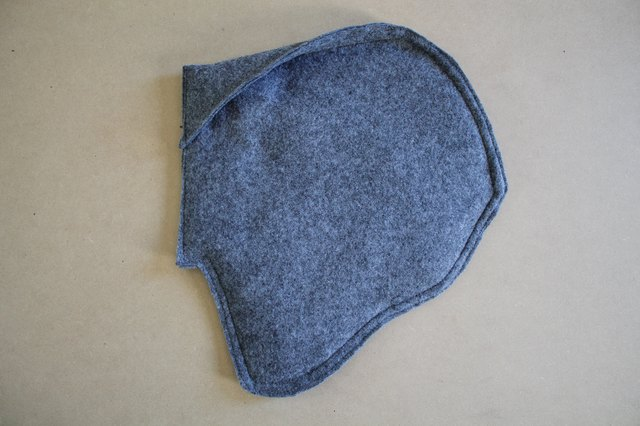 Topstitch the ear to finish it off.