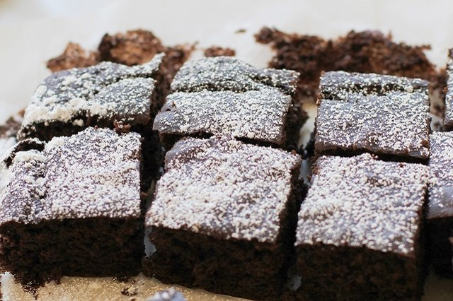 These flourless gluten-free brownies are made with black beans.