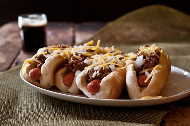 With this recipe, there's no need to travel to a ballpark for a great chili dog.