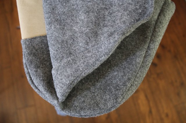 Use a folded up t-shirt underneath to support the curved seam  as you iron if needed.