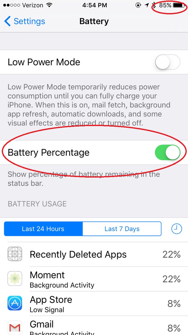 how to see battery percentage on iphone 5 how to display the battery percentage on an iphone ehow 8708