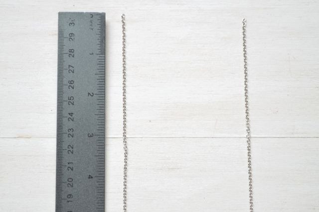 Try on the necklace to determine the ideal length.