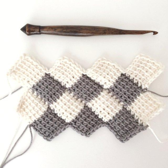 How To Use The Tunisian Entrelac Crochet Method Ehow