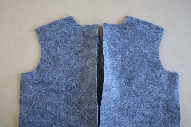 Do not sew together the side seams yet.