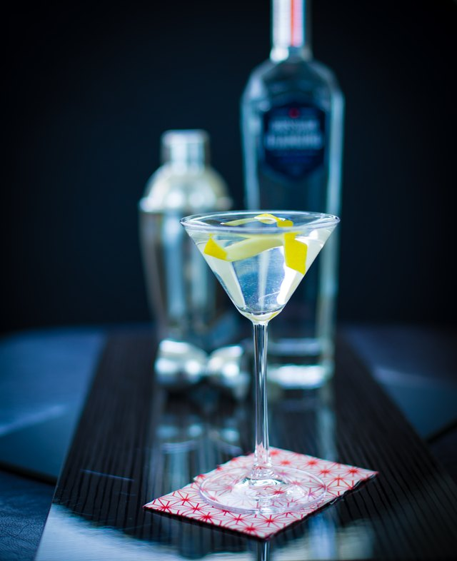 Try a dry martini cocktail with a fresh lemon twist for a bit of aroma.