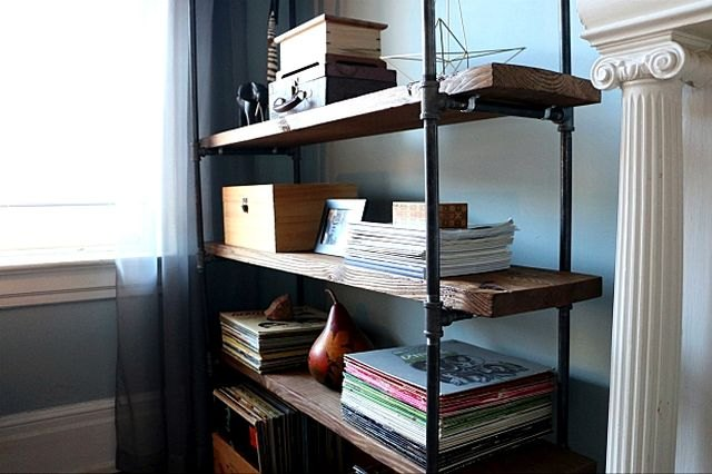 Store albums, books or even your favorite game consoles on this DIY bookcase.