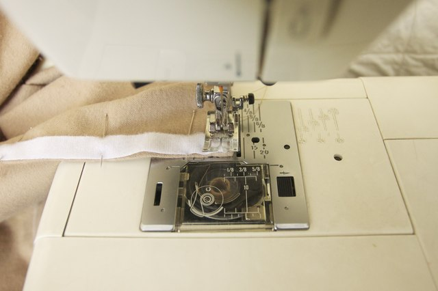 Sew the loop strip.