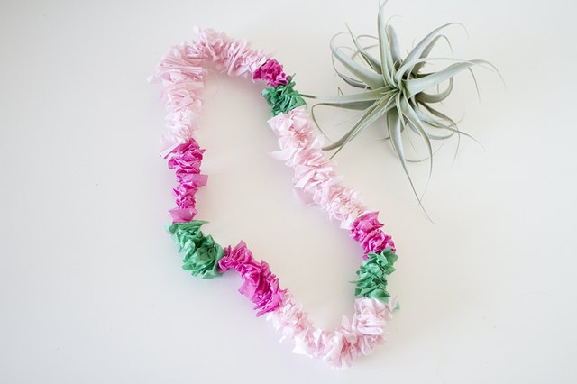 lei lane pink hawaiian lai necklace favour by