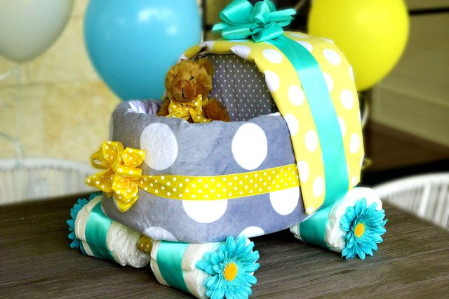 How To Make A Baby Carriage Diaper Cake Ehow