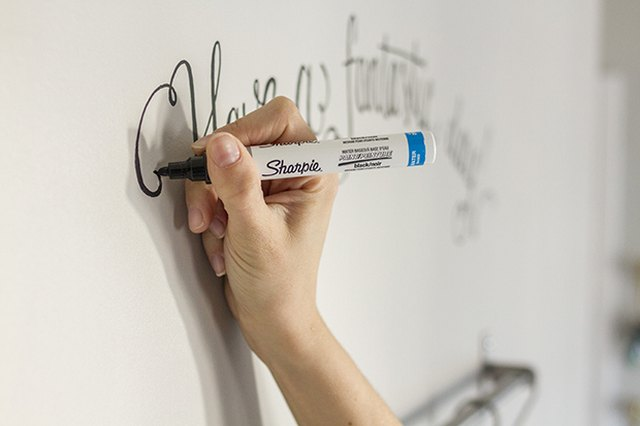 Use a marker or decals to add a motivational quote above your coffee bar.