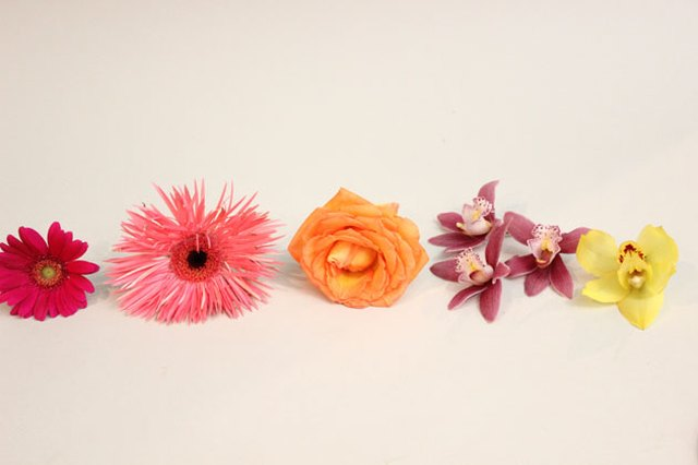 Use three flowers per corsage, or just one if it's a large bloom.