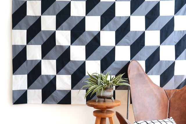 how to make wall hanging with geometrical shapes